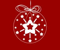 Stars in a christmas ball Royalty Free Stock Photography