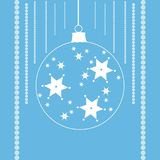 Stars in a christmas ball. Simple and beautiful shapes with festive ornaments. Clean design for Christmas prints Stock Photography