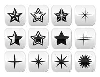 Stars christmas celebration  buttons set Royalty Free Stock Image