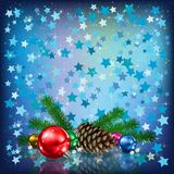 Stars and Christmas decorations Stock Photography