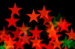 Stars christmas lights Royalty Free Stock Images