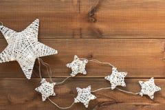 Stars Christmas lights Royalty Free Stock Image