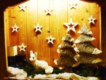 Stars and Christmas scenario Stock Photography