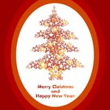 Stars christmas tree Stock Photography