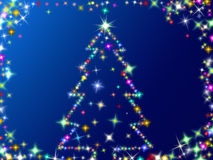 Stars Christmas tree Stock Images