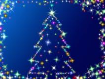 Stars Christmas tree stock images
