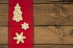Stars and Christmas Tree Ginger Bread as Background Royalty Free Stock Image