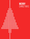 Stars Christmas tree red poster Royalty Free Stock Images