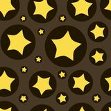 Stars in a circle seamless texture Royalty Free Stock Photography