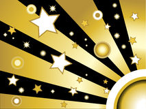 Stars and circles background royalty free stock image