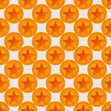 Stars  and circles seamless pattern Stock Image