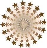 Stars circles tunnel Stock Photo