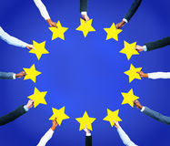 Stars Circularly to Form a Flag of EU Royalty Free Stock Photo