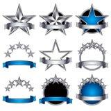 5 stars classic emblems set. Stock Photos