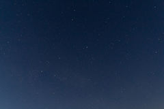 Stars on clear night sky. View on the nightsky during a clear night in Germany reveiling a lot of stars Stock Image