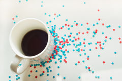 Stars and coffee Royalty Free Stock Image