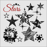 Stars Collection . Vector set Royalty Free Stock Images