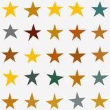 Stars Collection vector. Stars Collection. Star set in various shapes, sizes and colors. Vector stock illustration