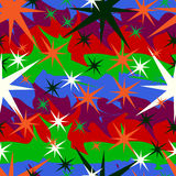 Stars on a colored background Royalty Free Stock Photo