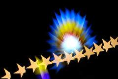 The stars are colorful. Star from filter that make leans blur royalty free stock photography