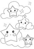 Stars coloring page Royalty Free Stock Photography