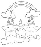 Stars coloring page Stock Photography
