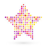 Stars composed of polka dots. Stars composed of small colored polka dots vector illustration
