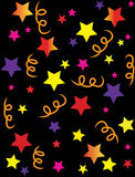 Stars confetti illustration Royalty Free Stock Image