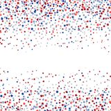 Stars confetti in red white and blue. Star shaped confetti in red white and blue Royalty Free Stock Photo