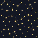 Stars and constellations pattern Royalty Free Stock Images