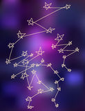 Stars constellations stylize drawing background. Stock Photo