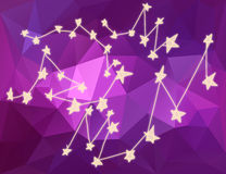 Stars constellations in Universe in triangle background Royalty Free Stock Photos