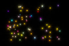 Stars a cor do fundo Foto de Stock