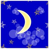 Stars and crescent seamless Royalty Free Stock Image