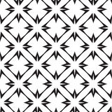 Stars and Crosses, Abstract Geometric Vector Seamless Pattern. Stock Photos