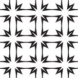 Stars and Crosses, Abstract Vector Seamless Pattern. Stars and Crosses, Black and White Abstract Geometric Vector Seamless Pattern Background Royalty Free Stock Images