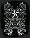 Stars curl tribal art Stock Images