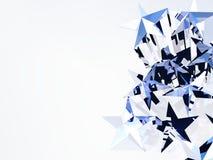 Stars 3D illustration Stock Images