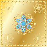 Stars of David and Gold oriental ornament Stock Image