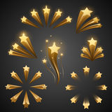 Stars decor elements. In vector Stock Image