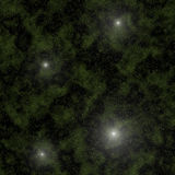 Stars in deep space Stock Images