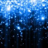 Stars descending. On blue background vector illustration