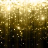 Stars descending. On golden background royalty free illustration