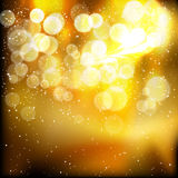 Stars descending on golden background. Illustration for your design Royalty Free Stock Photo