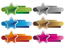 Stars design element. 3d stars  design element Royalty Free Stock Images