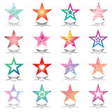 Stars. Design elements set. Stock Image