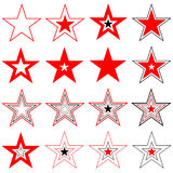 Stars. Design elements. Vector. Royalty Free Stock Photography