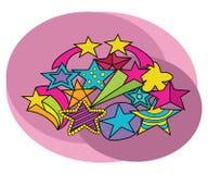 Stars design set. Cartoon free hand draw doodle Royalty Free Stock Photography