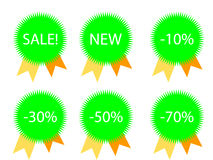 Stars for discount prices Royalty Free Stock Photos