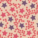 Stars and dots pattern.Seamless vector illustration. stock illustration